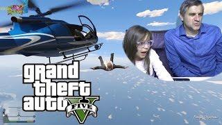 GTA 5 Teleferik ve Helikoptere bindim Paraşüt ile atladım - Eğlenceli Oyun Videosu - Funny Games