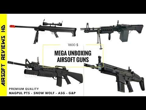 Unboxing G&P M16 w M203 MAGPUL MASADA CLASSIC ARMY M249 SNOW WOLF M99