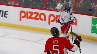 Kreider catches Anderson off guard, scores while falling
