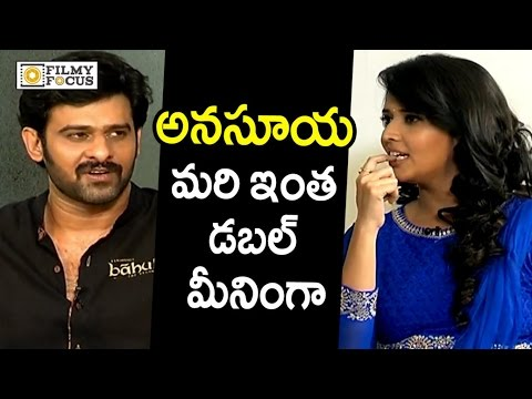 Prabhas Epic Punch to Anchor Anasuya Double Meaning Question : Rare Video - Filmyfocus.com