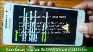 Update Samsung Galaxy Grand Max SM-G7202 to Android 5.1.1 Lollipop