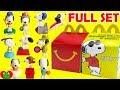 2018 Peanuts Snoopy McDonald's Happy Meal Toys