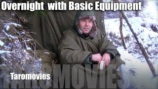 Snow Mountain Overnight Only With Basic Equipment/HD Bushcraft Survival Video
