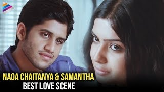 Samantha & Naga Chaitanya Long Kiss Scene | Ye Maya Chesave Movie Love Scenes | Telugu Filmnagar