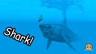 Giant Shark Attack On Boat + Swimming In Water - Roblox Cookie Swirl C Game Video