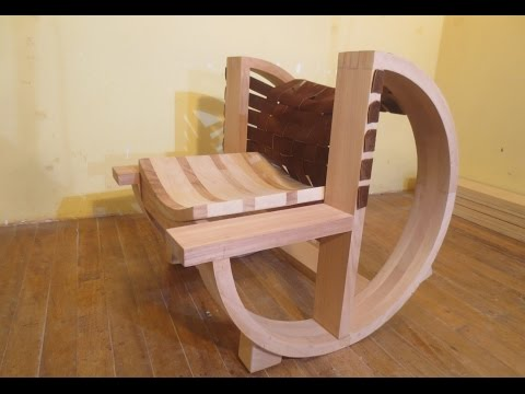 How to make a wooden rocking chair CARPINTERIA FURNITURE Luis Lovon