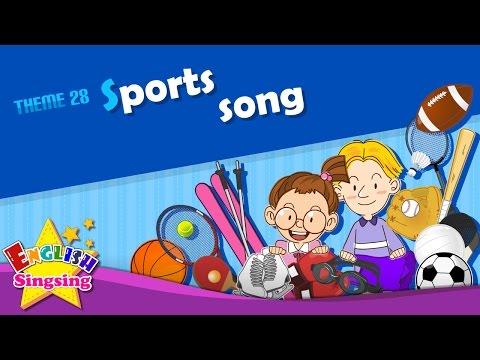 Theme 28. Sports song I like baseball ESL Song & Story Learning English for Kids