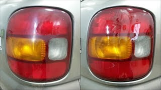 How To Restore Faded/Scratched Car Taillights - Wet Sand & Polish
