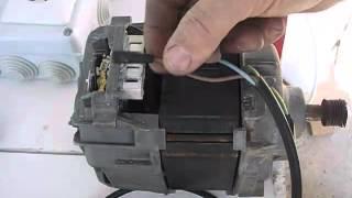 Cómo conectar un motor de lavadora con escobillas, Connect washing machine motor with brushes