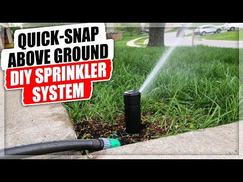 QUICK SNAP Above Ground DIY Sprinkler System