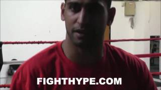 AMIR KHAN JABS DANNY GARCIA ABOUT REMATCH; SAYS HE MAY BE HESITANT BECAUSE HE KNOWS HE GOT LUCKY