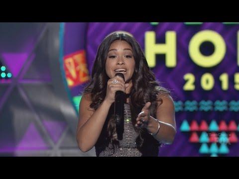 Xxx Mp4 Gina Rodriguez Raps For Ludacris At Teen Choice Awards 2015 3gp Sex