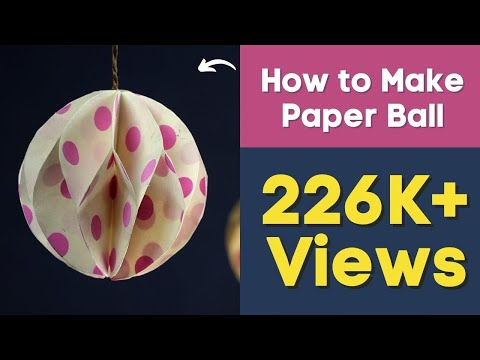 Xxx Mp4 Christmas Paper Crafts How To Make Paper Ball For DIY Party Decorations 3gp Sex