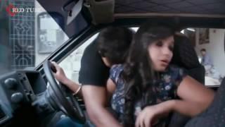 Actress Anjali hot nip press in car