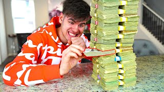 Giant MONEY JENGA Challenge