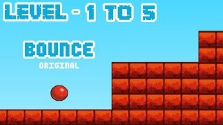 Bounce Original - Level 1 to 5 (Completing) iOS / Android Gameplay HD