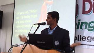 Never Give Up!!! Reach Out Our GOAL -Satheesh Kumar Preaching, AECS Bangalore.