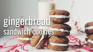 GINGERBREAD SANDWICH COOKIES | hot for food