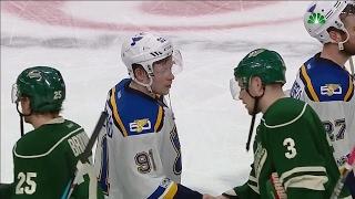 Handshakes: Blues send Wild to their off season