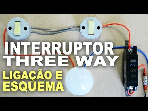 Como ligar interruptor Paralelo Three Way