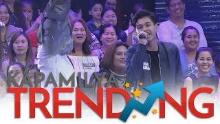 Metro Manila Contender's son sings a few lines of