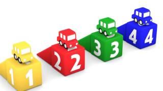 أبجد وكلمن للرسوم المتحركة - السيارات الأربع الملونة / هيا نتعلم والأرقام بالعربية والإنجليزية