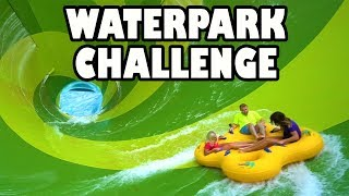Water Park Challenge at Aquatica with Giant Water Slides. Totally TV