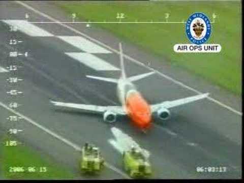 Pouso Forçado 737 sem Trem de Pouso
