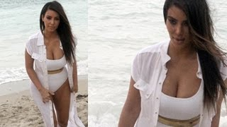 Kim Kardashian HOT in a White Bikini