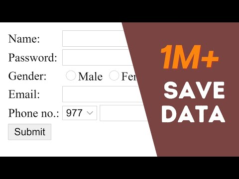 How to connect HTML Register Form to MySQL Database with PHP