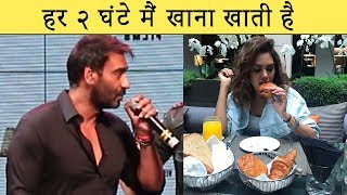 Ajay Devgn Trolls Esha Gupta On Her Eating Habits