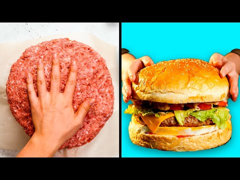29 KITCHEN HACKS THAT WILL SHAKE YOU TO THE CORE Giant Food Challenge by 5 MInute Recipes