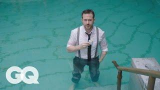 Ryan Gosling Goes Swimming in his Ralph Lauren Suit   GQ