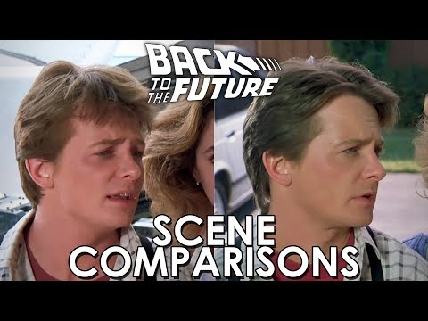 watch Back to the Future 1 & 2 - scenes comparisons