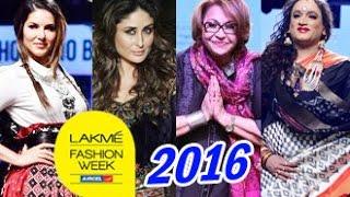 Sunny Leone, Kareena Kapoor, Helen at Lakme Fashion Week 2016 | Laxmi Tripathi, Divya Khosla