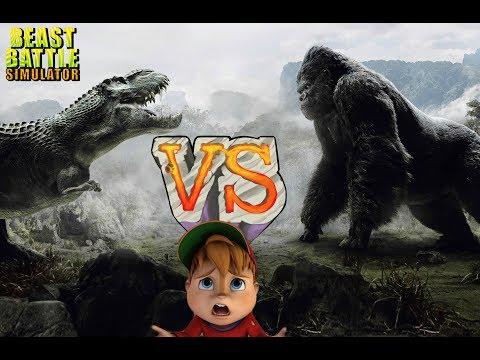 King Kong vs T-Rex || Beast Battle Simulator #1