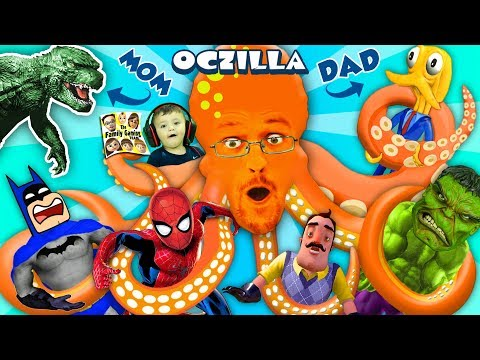 Xxx Mp4 GODZILLA MOMMY OCTOPUS DADDY OCTZILLA FGTEEV Friends Batman Hello Neighbor Spiderman Hulk 3gp Sex