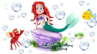 Princess Ariel The Little Mermaid Play Doh Cartoons Stop Motion & Magic Sand Toy Unboxing
