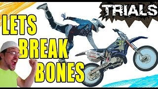 Lets Break Bones in Trials: Skylander Dad + Dirt Bike Fusion (Evolution Xbox 360 Gameplay)