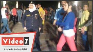 بالفيديو.. شاهد طريقة تعامل عقيد شرطة نسائية مع متحرش فى الأزهر بارك