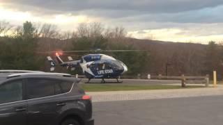 Life Star departing Charlotte Hungerford Hospital in Torrington CT