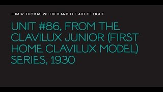 "Thomas Wilfred, ""Unit #86,"" from the ""Clavilux Junior (First Home Clavilux Model)"" series"