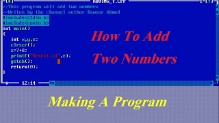 Turbo c++ Tutorial Add Two Numbers For The Beginners
