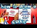 How To Draw A Birthday Cake Tower (Folding Surprise)
