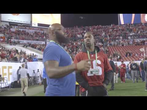 Watch the pre game scene on the sidelines at the National Championship Game