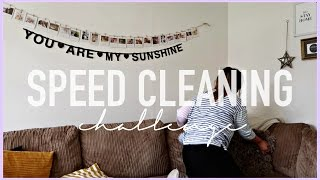 SPEED CLEANING MY HOUSE - THE 10 MINUTE TIDY UP CHALLENGE - POWER CLEAN