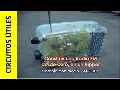 Cómo hacer una RADIO FM casera TupperElectrónica. TDA7000. Circuitos ÚTILES 10.