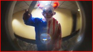 KILLER CLOWN - TRIES TO BREAK INTO MY HOUSE! (REAL FOOTAGE)