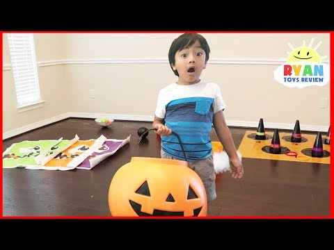 Halloween Carnival games for Kids Surprise Toys Hunt with Ryan vs Mummy Mommy Pretend Play