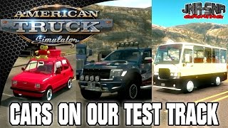 ATS MODS | Cars on Our Test Track | AMERICAN TRUCK SIMULATOR MOD REVIEW | ATS MOD REVIEW